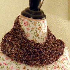 knit scarv, balls, ball lace, lace scarf, nobleknit knit