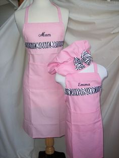 Mommy  and Me Aprons by mothernaturesnursery on Etsy, $35.00