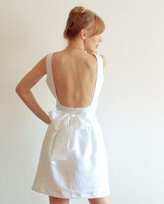 White Backless Dress
