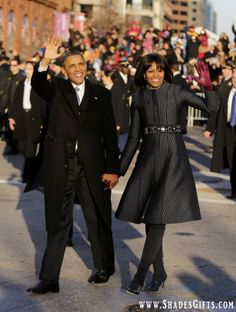 President Barack Obama & First Lady Michelle Obama (Inauguration Parade)