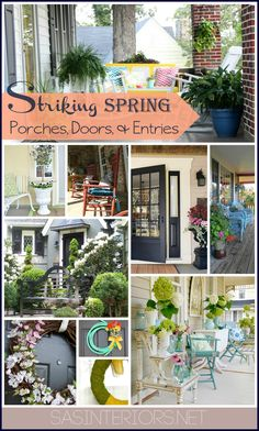 Striking Spring Porches, Doors, and Entryways