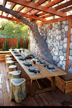 An outdoor dining room. LOVE this!!