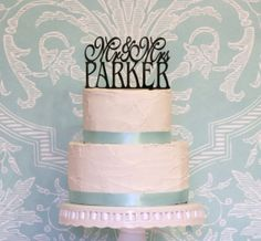 6 Wide Personalized Mr and Mrs Monogram Wedding by WyaleDesigns, $30.00