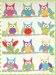 This kit includes the fabric to make the Okey Doeky Owl and Friends Appliqu Quilt. The fabrics are for the quilt shown in the first image. You will recieve a guide showing which fabrics are used where in the quilt. There is enough of the bright pinks that you can swap a color out and still have enough fabric left for the quilt. For instance if you don't want pink in the quilt you can leave it out and there is enough yardage of the other fabrics to use for the originally pink appliques.
