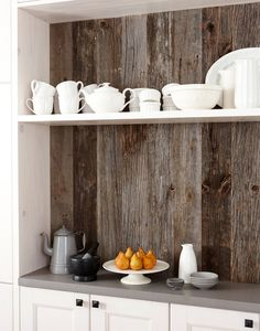 Reclaimed wood without the commitment.  Farmhouse  by Stacey Brandford Photography
