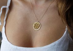 Tree Of Life Necklace, Gold Tree Of Life Necklace on Etsy, $82.00