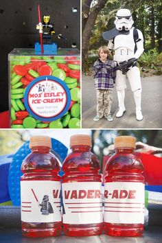 Sure this is a Star wars party for a 6 year old boy but sweet baby Jesus I want this for my next birthday.