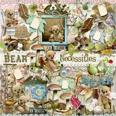 A wonderful teddy bear themed scrapbook collection from Raspberry Road.