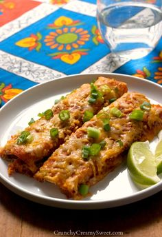 Black Beans and Quinoa Enchiladas - easy and healthier vegetarian version of a family favorite!