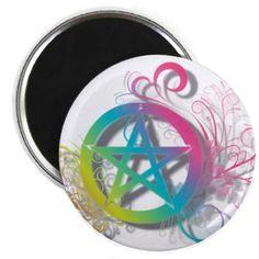 Flowery Pentacle Magnet