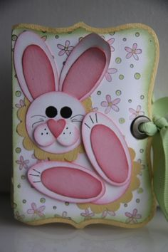 """Bunny Top Note Box""  ... adorable punch art bunny ... he'd be cute on an Easter card too ..."