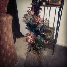 #besom #broom #peacock #wicca #pagan