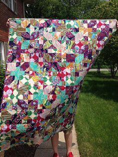 Anna Maria Horner x and + quilt.