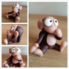 Monkey polymer clay sculpey fimo