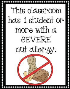 Mrs. Lirette's Learning Detectives: FREE Nut Allergy Signs