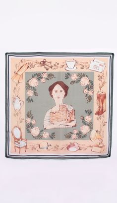Downton Style: the Lady Mary heirloom silk scarf.