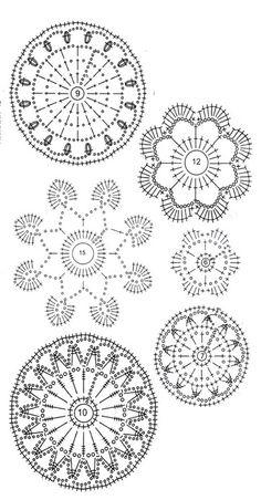 Crochet flowers charts... Apliques..?