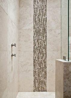 Bathroom ... by Kara Bowman  (cool accent tiling)
