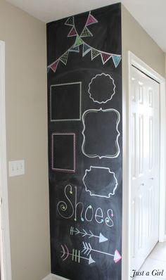 DIY chalkboard wall tutorial