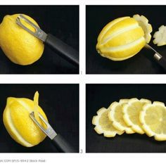 Fancy ways to serve lemon for drinks (inspirational only)