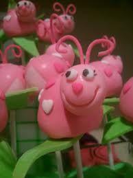 Cute ladybug cake pops