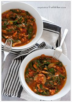 Vegetable and white bean stew. Looks healthy and easy