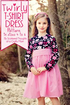 dress patterns, sewing patterns girls free, craft, free pattern, free girls shirt pattern, twir tshirt, girl tshirt dresses, pattern pattern, twir dress