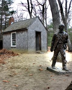 Walden Woods : Henry David Thoreau's house Concord, Mass.