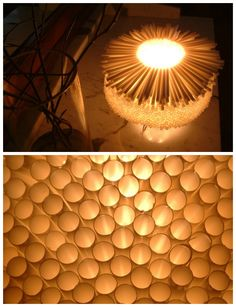 Drinking straws lamp #Lamp, #Light, #Recycled, #Straw