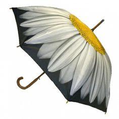 White Daisy Umbrella @ www.let-it-rain.com
