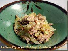 Kalua Pig with Cabbage Recipe  (This recipe for Hawaiian Kalua Pig with Cabbage calls for roasting a pork shoulder in an oven bag.)
