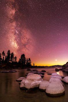 night beach, beaches, beauti place, beauti creation, natur beauti, beach time, mstrkrftz, beauti gaia, lake tahoe