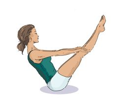 Yoga for back pain and strengthening abs-
