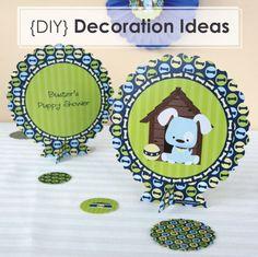 DIY Party Decoration Ideas {Dog Party Centerpiece Kits}
