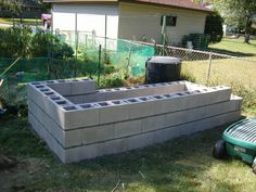 Another project idea  http://minnesotapears.blogspot.com/2010/09/making-cinder-block-raised-bed-garden.html