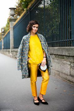 paris fashion, vintage, fashion week, collag, miroslavaduma, street styles, miroslava duma, coat, bright colors