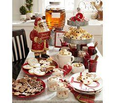 Santa Hat Lidded Bowl | Pottery Barn christmas table decorations, holiday, potterybarn, christmas style, potteri barn, christmas tables, christma tabl, cooki, pottery barn style