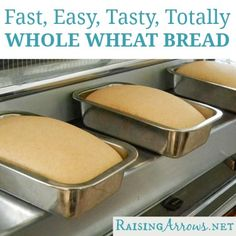 All Whole Wheat Bread start to finish only 1 hour (and oh so yummy!)   RaisingArrows.net