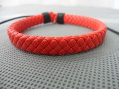 Cool Adjustable red leather Cotton Rope Woven by sevenvsxiao, $3.00