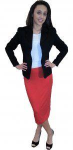 Cotton Pique Jacket - $59.00 :: DCM Apparel - Modern Modest Clothing
