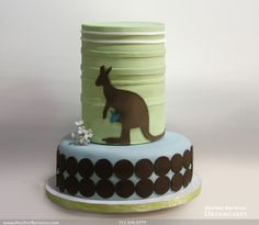 Kangaroo Baby Shower Cake