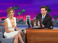 Star Tracks: Wednesday, June 18, 2014 | STRAIGHT TALKER | Remember those moves? Jennifer Lopez reminisces about her tight pants dance-off with Jimmy Fallon while appearing on The Tonight Show in Orlando, Florida, on Monday.