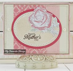 Inspired by Flowers Set 2, Pierced Oval STAX Die-namics - Mona Pendleton #mftstamps