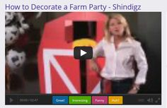 How to Decorate a Farm Party using party decorations from Shindigz.com