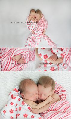 Twins...omg the last picture, I'm dying of cuteness.