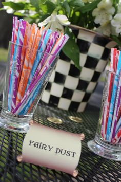 """""""Fairy Dust"""" food labels perfect for a pixie birthday party, fairy birthday party or pirates party"""
