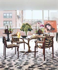 Love the table and chairs... DVF's home.