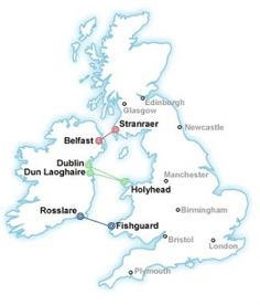 Train and Ferry tickets between the UK and Ireland