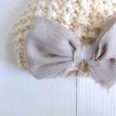knit baby girls hat, newborn photo prop, knit baby hat with bow, by Sweet Baby Dolly on Etsy. $21.00, via Etsy.