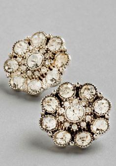 style, modcloth, radianc earring, sparkl stud, vintage earrings, white weddings, wedding bridesmaids, jewelri, retro vintage
